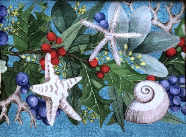 seashells ocean Christmas adjustable face mask