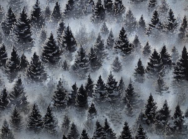 Winter trees adjustable face mask