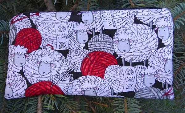 sheep pencil case crochet hook pouch