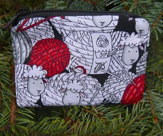 skeins of sheep coin purse stitch marker pouch