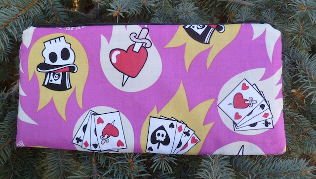 skulls and cards pouch for Munchkin cards, pouch for carrying Cards against Humanity