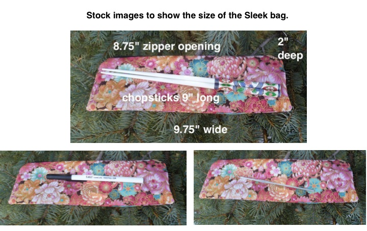 long zippered pouch for chopsticks pencils crochet hooks and knitting needles