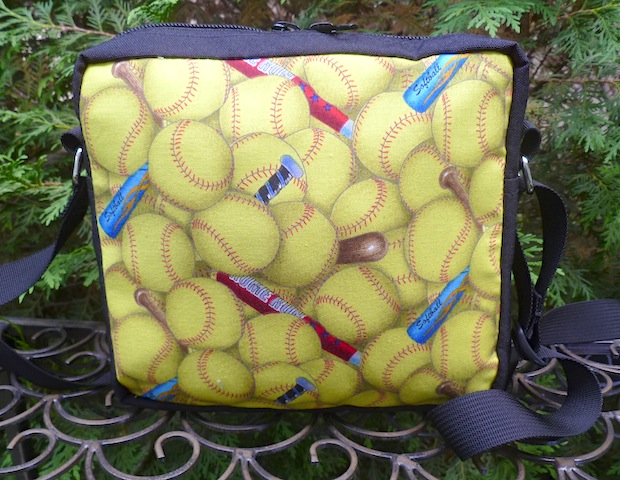 softball hipster cross body shoulder bag