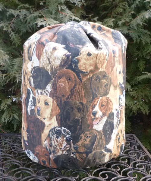 sporting dogs knitting bag for blankets or afghans