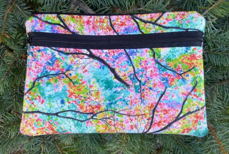 Spring trees mini wallet iphone wallet waist bag fanny pack
