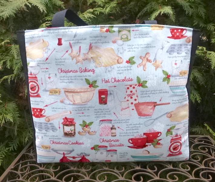 Tote to carry Christmas baking