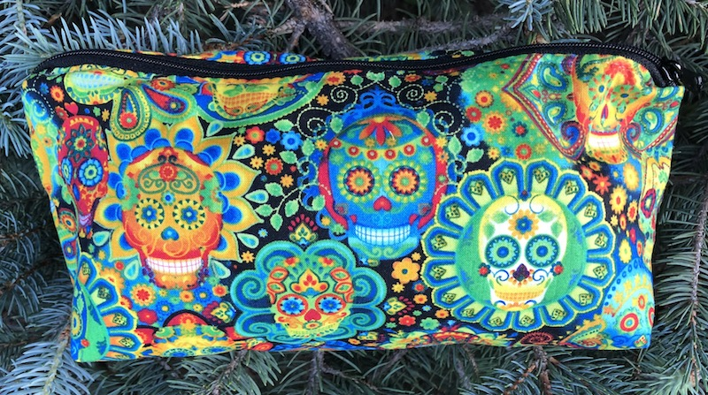 Sugar skulls flat bottom bag