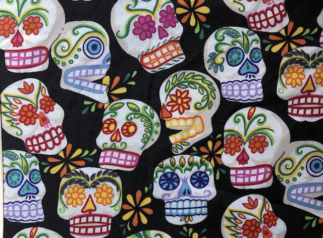Day of the Dead Sugar Skulls face mask Zoe's Bag Boutique