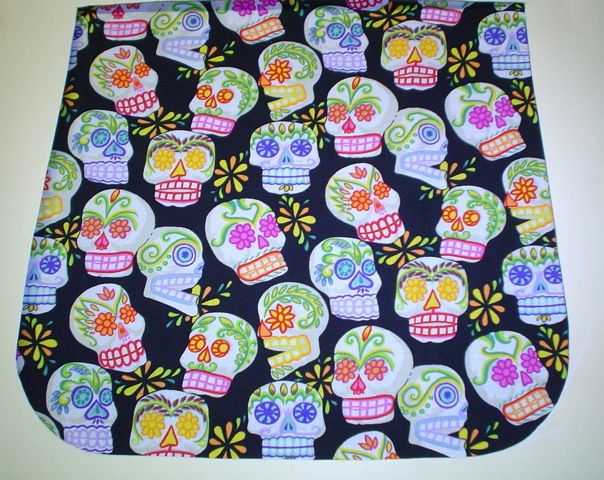 sugar skulls flap for messenger bag