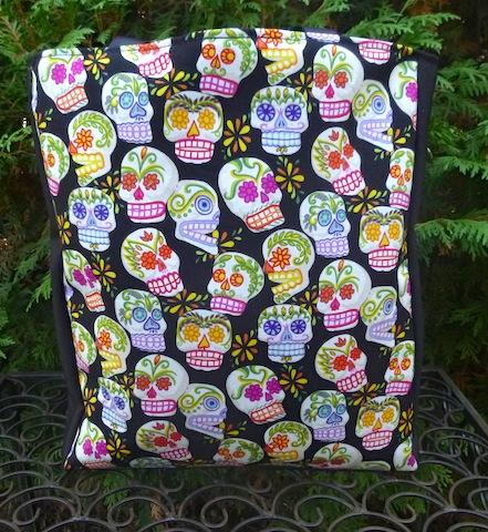 sugar skulls tote bag