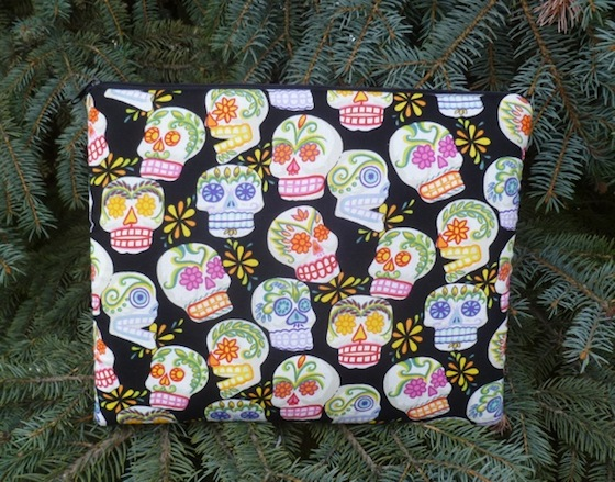 sugar skull padded case for Galaxy tab 10.1 ipad large tablets and netbooks