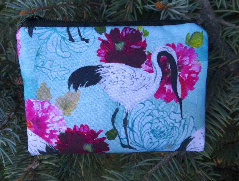 Japanese cranes coin purse