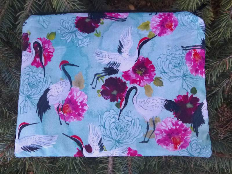 Japanese cranes mahjong card and coin pouch