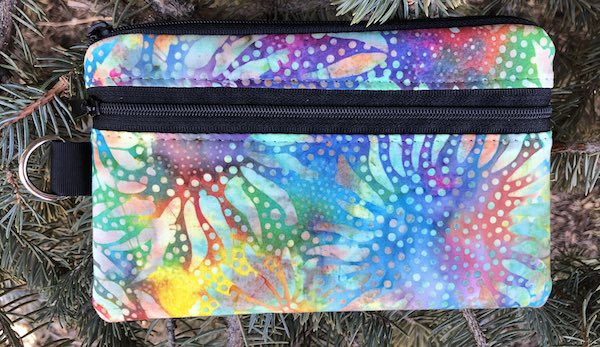 Sunflower batik mini wallet