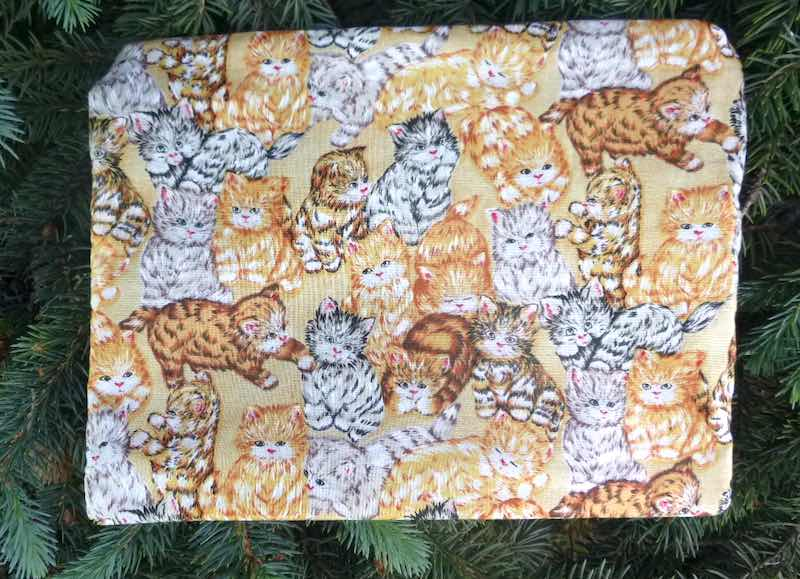 Tabby cats large pencil case or makeup bag