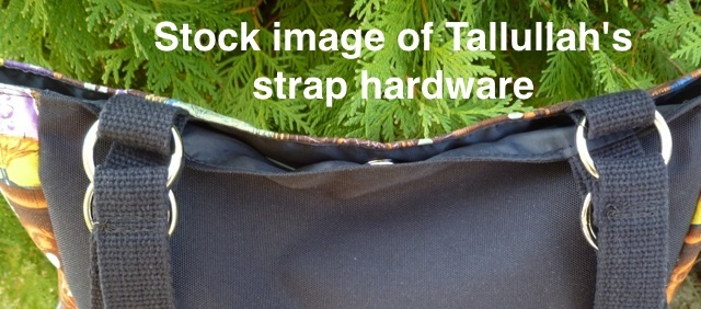 purse with metal hardware