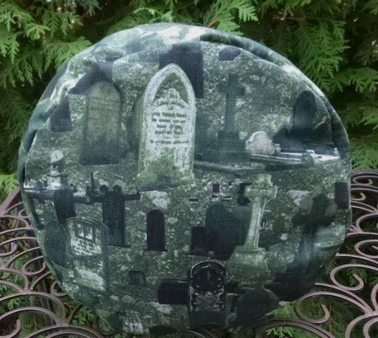 gravestones large drawstring bag for knitting