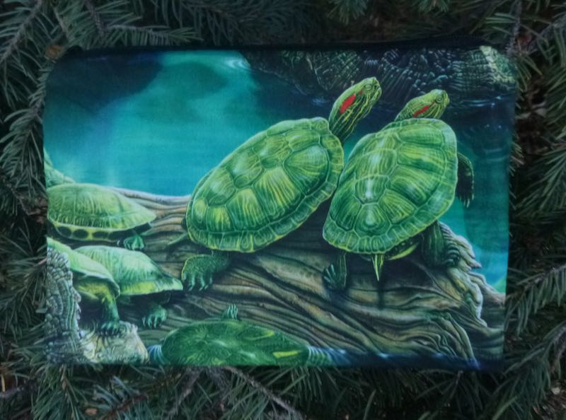 Turtle zippered bag