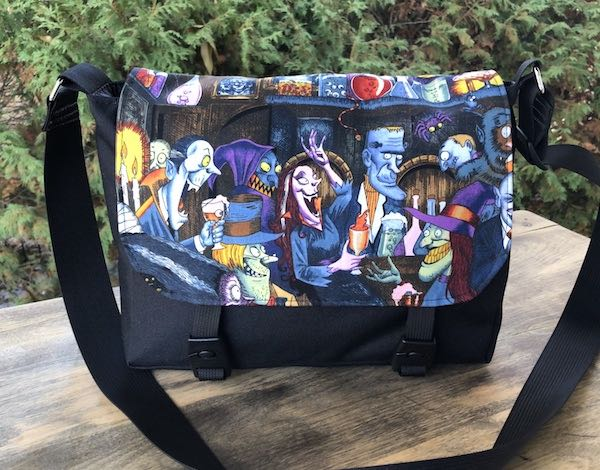 Unhappy Hour monsters small messenger bag