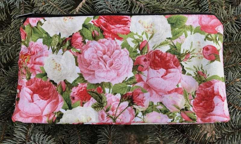 Vintage style roses deep pencil case