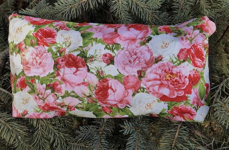 Vintage roses flat bottom bag for mahjong cosmetics
