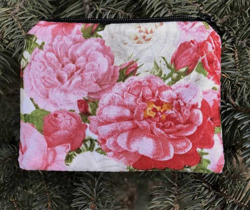 vintage roses coin purse