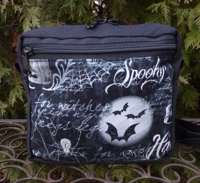 Spooky fanny pack waist bag dog walker bag