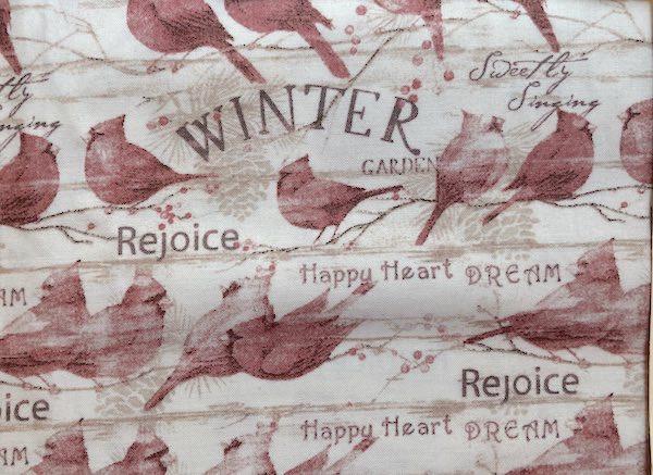winter cardinals adjustable face mask