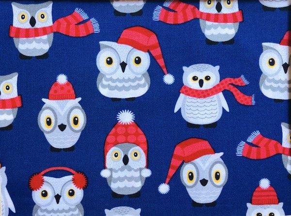 Winter owls adjustable face mask