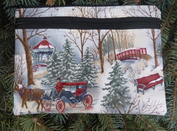 Winter snow purse, shoulder bag