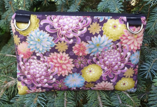small wallet with wristlet or shoulder strap
