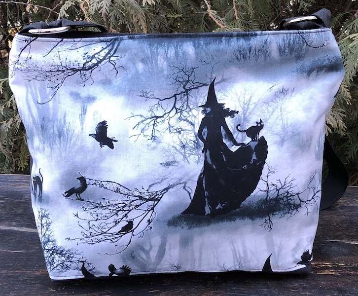 witch zippered cross body purse handbag shoulder bag