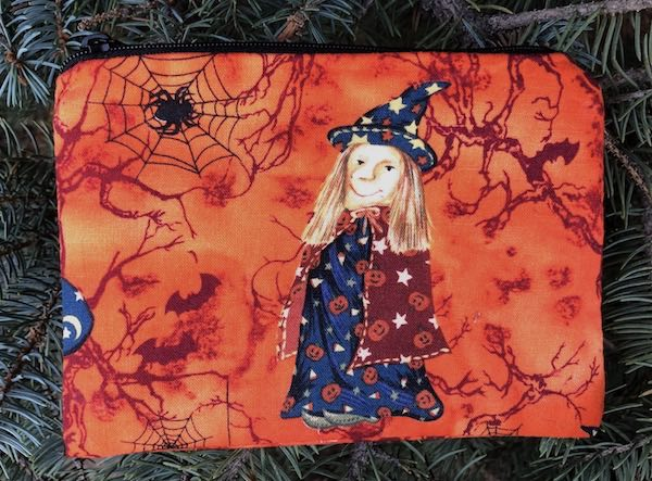 witch small zippered bag