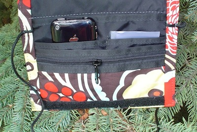 wallet on a string with iphone pocket