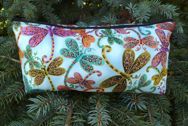 flat bottom zippered bag
