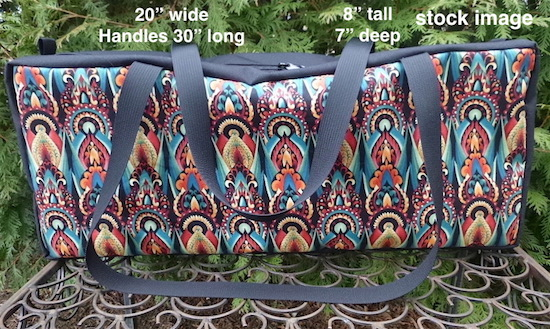 zippered Tote for mahjongg racks