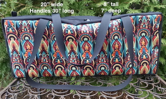 Zippered Tote for mahjongg racks and tiles