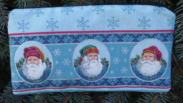 Blue Santa Deep Scribe pen and pencil case