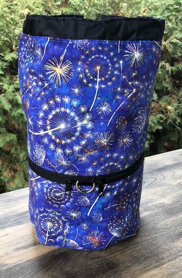 Dandelion Botanica knitting project bag, large Kipster