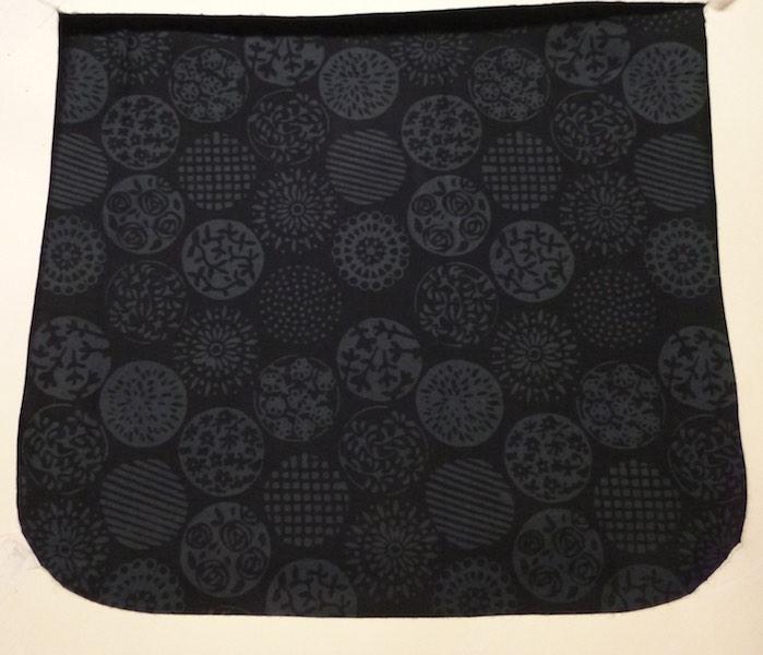 Charcoal Circles Batik Pick your Size Morphin Messenger Bag Flap