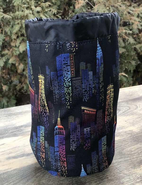 City Lights SueBee Round Drawstring Bag
