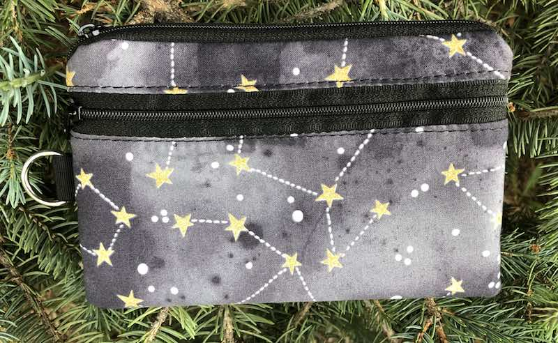 Constellations Mini Wallet, Purse Organizer, iPhone wallet, The Sweet Pea