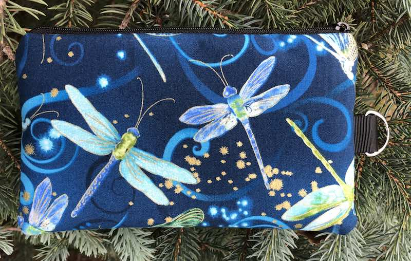 Dancing Dragonflies Mini Wallet Purse Organizer, iPhone wallet, The Sweet Pea
