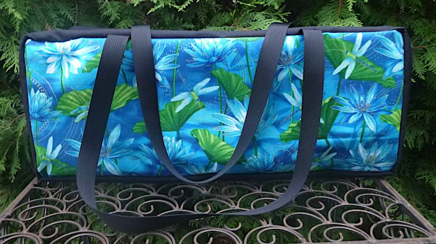 Dragonflies and Water Lilies Mahjongg Storage Set The Zippered Tote-ster and Large Zini