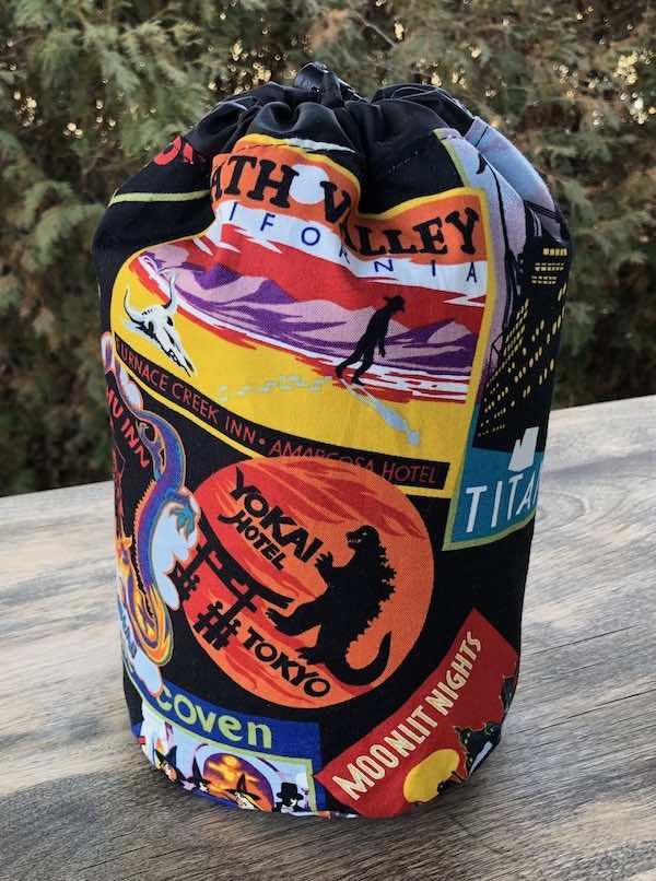 Favorite Haunts SueBee Round Drawstring Bag