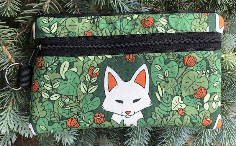 Foxy Mini Wallet Purse Organizer, iPhone wallet, The Sweet Pea