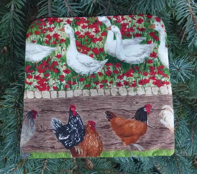 Chickens and Geese Skippy Zippered Bag