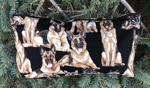 German Shepherds Large Zini Flat Bottom Bag