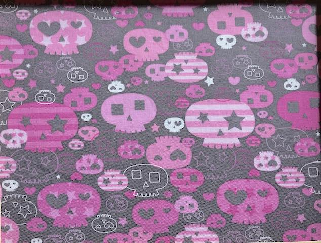 Girly Skulls Adjustable Face Mask - MADE TO ORDER