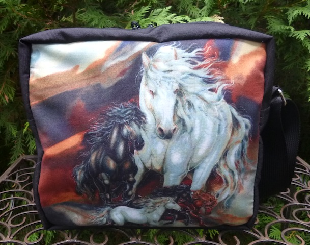 Horse Splendor Shoulder Bag, The Raccoon